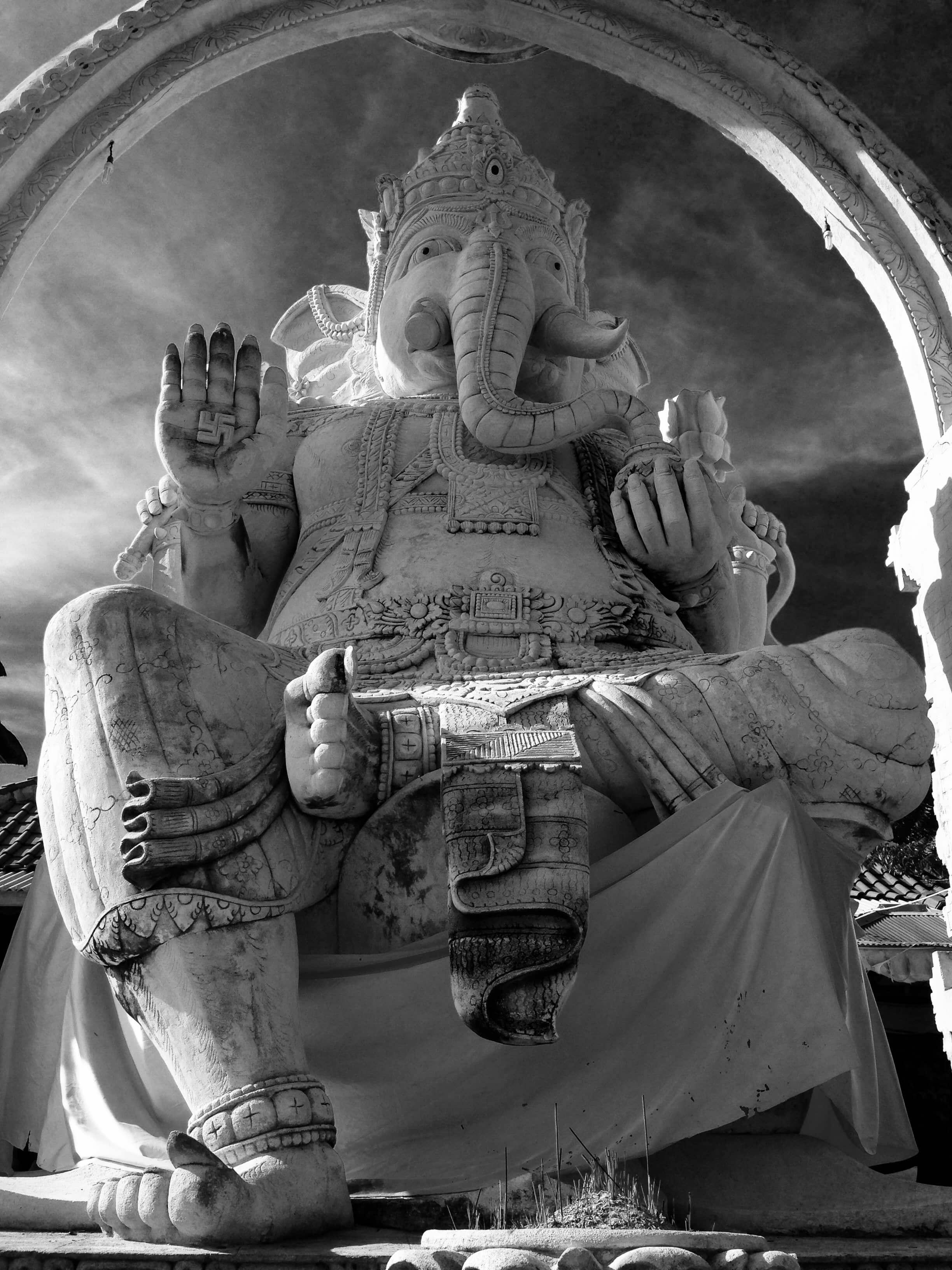 Ganesh black white