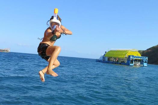 jumping ninja water