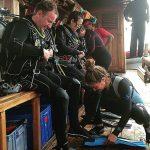 preparing for scuba diving