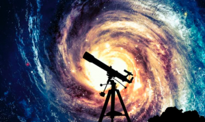 galaxy and a telescope